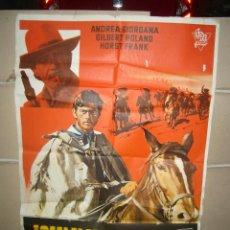 Cine: JOHNNY EL VENGADOR ANDREA GIORDANA GILBERT ROLAND SPAGHETTI POSTER ORIGINAL 70X100 YY(1663). Lote 100724371