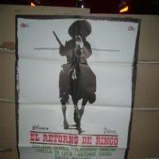 Cine: EL RETORNO DE RINGO GIULIANO GEMMA SPAGHETTI POSTER ORIGINAL 70X100 YY(1673)ESTRENO. Lote 100725695
