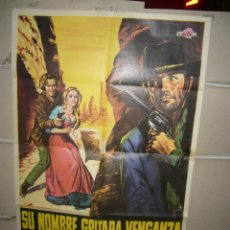 Cine: SU NOMBRE GRITABA VENGANZA ANTHONY STEFFEN BERGER SPAGHETTI POSTER ORIGINAL 70X100 YY( 1685) . Lote 100734063