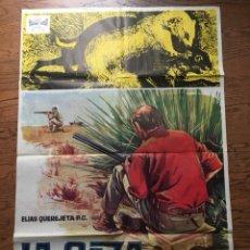 Cine: LA CAZA - CARTEL - POSTER CINE (65 X 97 CM)- DIRECTOR : CARLOS SAURA - AÑO 1966. Lote 100877519