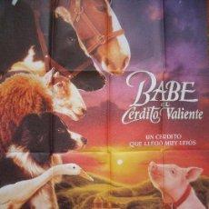 Cine: BABE EL CERDITO VALIENTE.-POSTER.-CINE.-MEDIDAS DE 100 X 68 CM.-AÑO 1995.. Lote 100995599