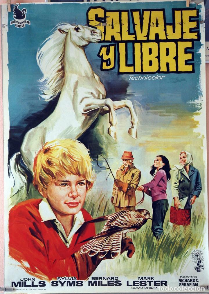 SALVAJE Y LIBRE. MARK LESTER. CARTEL ORIGINAL 1969. 70X100 (Cine - Posters y Carteles - Infantil)