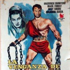 Cine: LA VENGANZA DE HÉRCULES. VITTORIO COTTAFAVI. CARTEL ORIGINAL 1961. 70X100. Lote 101210811