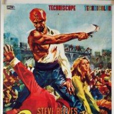 Cine: SANDOKAN. STEVE REEVES. CARTEL ORIGINAL 1964. 70X100. Lote 101211251