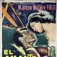 Cine: EL AMANTE DE LA MUERTE. STEVE MACQUEEN. ROBERT WAGNER. CARTEL ORIGINAL 1963. 70X100. Lote 101211519