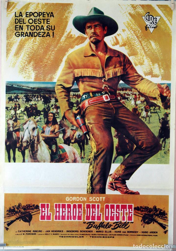 EL HÉROE DEL OESTE. GORDON SCOTT. CARTEL ORIGINAL 70X100 (Cine - Posters y Carteles - Westerns)