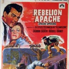 Cine: REBELIÓN APACHE. CARTEL ORIGINAL 1968. 70X100. Lote 101220271