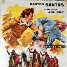 Cine: LOS DIABLOS DEL TERROR. GASTON SANTOS. CARTEL ORIGINAL 1963. 70X100. Lote 101221443