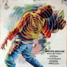 Cine: UNA BALA ES MI TESTIGO. GASTON SANTOS. CARTEL ORIGINAL 1961. Lote 101221703