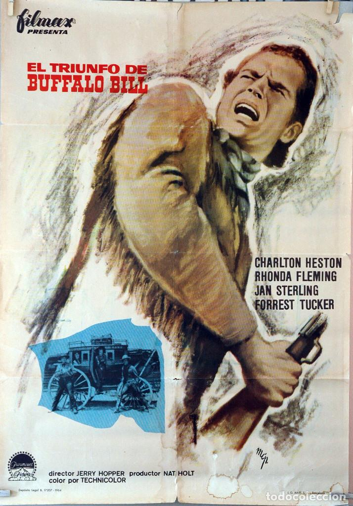 EL TRIUNFO DE BUFFALO BILL. CHARLTON HESTON. CARTEL ORIGINAL 1964. 70X100 (Cine - Posters y Carteles - Westerns)