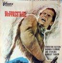 Cine: EL TRIUNFO DE BÉUFFALO BILL. CHARLTON HESTON. CARTEL ORIGINAL 1964. 70X100. Lote 101222043