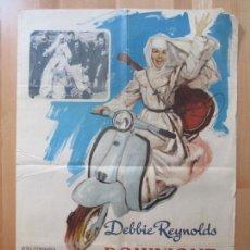 Cine: CARTEL CINE, DOMINIQUE, CEBBIE REYNOLDS, RICARDO MONTALBAN, VESPA, 1966, C1062. Lote 101425027
