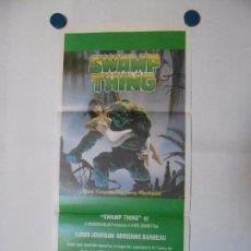 Cine: SWAMP THING - CARTEL ORIGINAL USA - 34 X 76. Lote 101432387