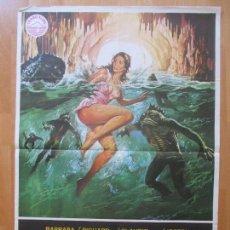 Cine: CARTEL CINE, LA ISLA DE LOS HOMBRES PECES, BARBARA BACH, RICAHRD JHONSON, 1978, C1080. Lote 101433979