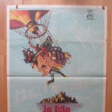 Cine: CARTEL CINE, LA ISLA MISTERIOSA, JULIO VERNE, MICHAEL CRAIG, JOAN GREEWOOD, 1963, C1096. Lote 101444563