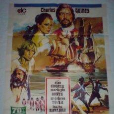 Cine: PÓSTER ORIGINAL LA REBELIÓN DE LOS BUCANEROS (1971). Lote 101483423