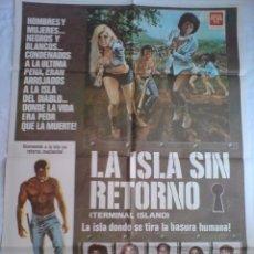 Cine: PÓSTER ORIGINAL LA ISLA SIN RETORNO . Lote 101485011