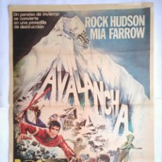Cine: CARTEL CINE, AVALANCHA, ROCK HUDSON, MIA FARROW, 1978 POSTER ORIGINAL 100X70. Lote 101496075