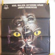 Cine: CARTEL CINE ORIG EL GATO DE 9 COLAS (1971) 70X100 / DARÍO ARGENTO GIALLO. Lote 101736668