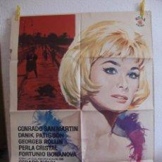 Cine: CARTEL CINE ORIG LA MUERTE SILBA UN BLUES (1963) 70X100 / JESUS FRANCO / MAC. Lote 47769060