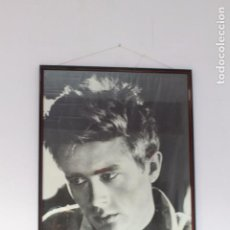 Cine: POSTER ENMARACADO DEL ACTOR JAMES DEAN. 1M X 70 CM. Lote 102106139
