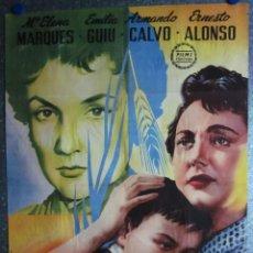 Cine: MATERNIDAD IMPOSIBLE. MARIA ELENA MARQUES, EMILIA GUIU, ARMANDO CALVO. AÑO 1958. ILUSTRADOR A. PERIS. Lote 102169675