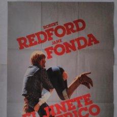 Cine: CARTEL CINE, EL JINETE ELECTRICO. ROBERT REDFORD, JANE FONDA. AÑO 1979, POSTER ORIGINAL 100X70. Lote 102280227