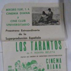 Cine: CARTEL ESTRENO LOS TARANTOS. 9 FEBRERO 1964. F. ROVIRA BELETA. CINEMA DIANA LOGROÑO. TDKPR2. Lote 102340547