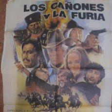 Cine: CARTELERA ORIGINAL DE 70X100 LOS CAÑONES Y LA FURIA. Lote 102380779