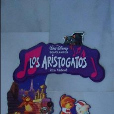 Cine: CARTEL DISNEY. COLGANTE DISPLAY A DOBLE CARA DE LA PELÍCULA, LOS ARISTOGATOS. 72,CTS.. Lote 142087952