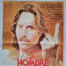 Cinéma: CARTEL CINE, HOMBRE LIBRE THE JERICHO MILE, PETER STRAUSS, 1980 POSTER ORIGINAL. Lote 102575567