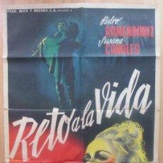 Cine: CARTEL CINE, RETO A LA VIDA, PEDRO ARMENDARIZ, SUSANA CANALES, MEXICO, C1151. Lote 102632087