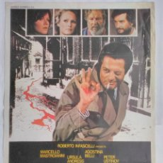 Cine: CARTEL CINE, DOBLE ASESINATO, MARCELLO MASTROIANNI, AGOSTINA BELLI, 1978 POSTER ORIGINAL 100X70. Lote 102650011