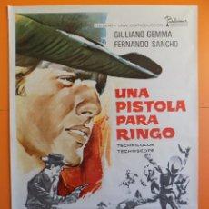 Cinéma: CARTEL, POSTER CINE - ORIGINAL - UNA PISTOLA PARA RINGO -WESTERN- AÑO 1975. R- 7756. Lote 102680414