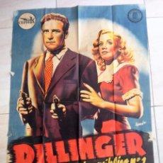 Cine: CARTEL CINE DILLINGER EL ENEMIGO PUBLICO Nº1 DIBUJA RAMON MIDE 70 X 100 CMTS. Lote 102683535