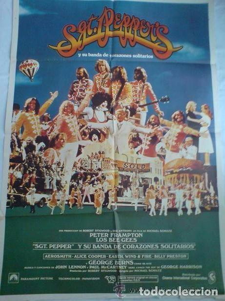 PÓSTER ORIGINAL SGT. PEPPER¨S Y SU BANDA DE CORAZONES SOLITARIOS. MÚSICA: THE BEATLES. THE BEE GEES (Cine - Posters y Carteles - Musicales)