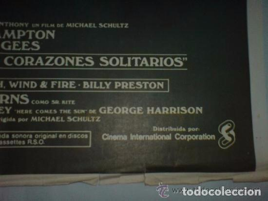 Cine: PÓSTER ORIGINAL SGT. PEPPER¨S Y SU BANDA DE CORAZONES SOLITARIOS. Música: The Beatles. The Bee Gees - Foto 2 - 102832419