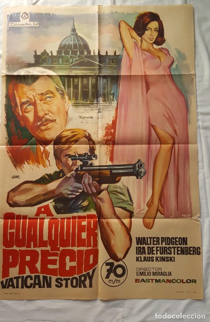 PÓSTER ORIGINAL A CUALQUIER PRECIO (VATICAN STORY) (Cine- Posters y Carteles - Drama)