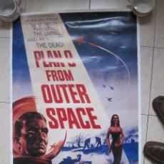 Cine: CARTEL POSTER DE PLAN 9 FROM OUTER SPACE DE ED WOOD. Lote 102945987