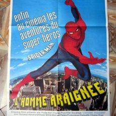 Cine: CARTEL POSTER FRANCÉS DE SPIDERMAN EL HOMBRE ARAÑA. Lote 102946083
