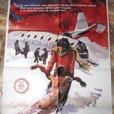 Cine: POSTER CARTEL DE GRAN FORMATO 70X100 SUPERVIVIENTES DE LOS ANDES. Lote 102954335