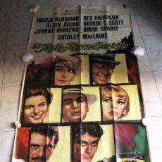 Cine: EL ROLLS ROYCE AMARILLO. INGRID BERGMAN, SHIRLEY MACLAINE, ALAIN DELON. 1965 POSTER 3 PIEZAS. Lote 103028967