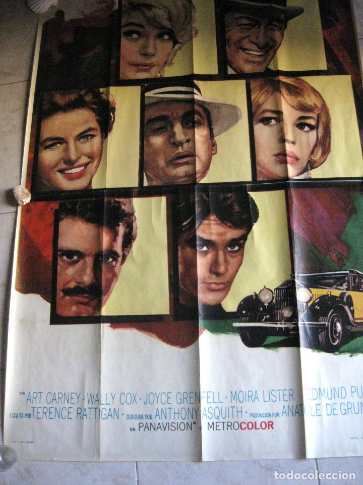 Cine: EL ROLLS ROYCE AMARILLO. INGRID BERGMAN, SHIRLEY MACLAINE, ALAIN DELON. 1965 POSTER 3 PIEZAS - Foto 2 - 103028967