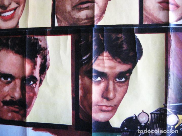 Cine: EL ROLLS ROYCE AMARILLO. INGRID BERGMAN, SHIRLEY MACLAINE, ALAIN DELON. 1965 POSTER 3 PIEZAS - Foto 4 - 103028967