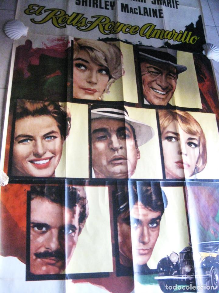 Cine: EL ROLLS ROYCE AMARILLO. INGRID BERGMAN, SHIRLEY MACLAINE, ALAIN DELON. 1965 POSTER 3 PIEZAS - Foto 11 - 103028967