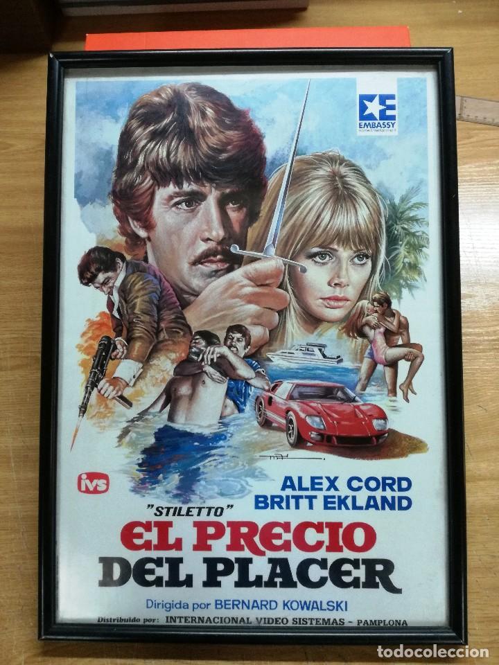 antiguo cartel enmarcado de cine 51 x 36cm. , e - Comprar Carteles y ...