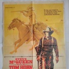 Cine: CARTEL CINE - TOM HORN. STEVE MCQUEEN . AÑO 1980 ORIGINAL. Lote 103099991