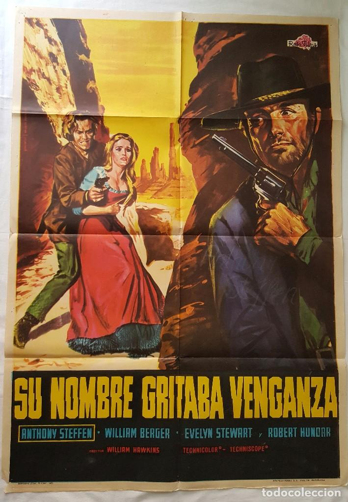 PÓSTER ORIGINAL SU NOMBRE GRITABA VENGANZA (Cine - Posters y Carteles - Westerns)
