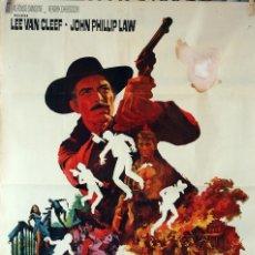 Cine: DE HOMBRE A HOMBRE. LEE VAN CLEEF-JOHN PHILLIP LAW. CARTEL ORIGINAL 70X100. Lote 103226935