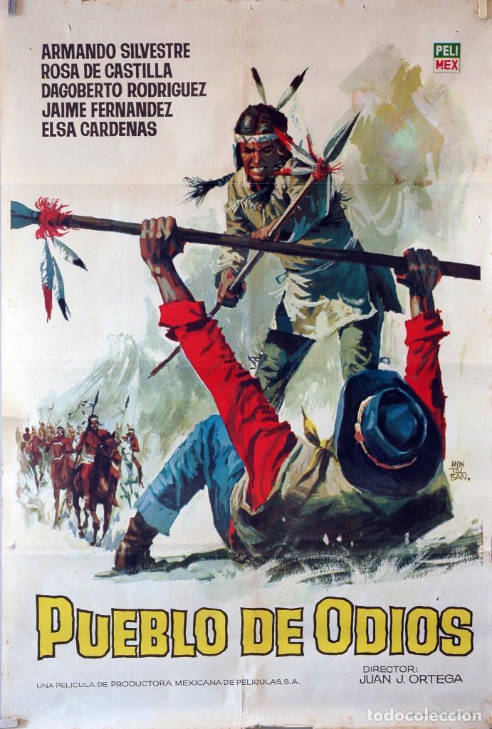 PUEBLO DE ODIOS. CARTEL ORIGINAL 1965. 70X100 (Cine - Posters y Carteles - Westerns)